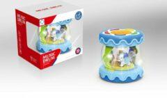 FDBW Speelgoed Muziek en Licht – Baby | Carousel Speelgoed | Baby Drum – Speelgoed Draaimolen - Blauw