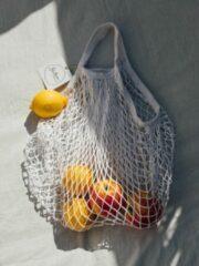 Betere producten Nettas - boodschappen tas - net - katoen - naturel - herbruikbaar - eco - fruittas - mesh - Nettasje/Franse boodschappentas wit