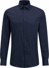 Donkerblauwe WE Fashion MEN'S EASY CARE SHIRT
