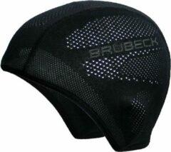 Zwarte Brubeck Seamless Active Hat/Muts met Zilverionen-S/M (geschikt voor onder helm)