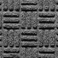 Grijze Deurmatshop.nl Schoonloopmat buiten / Supreme / 45 cm x 75 cm / 007 anthracite