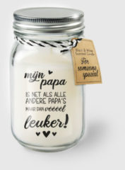 Witte Paper dreams Black & White geurkaars - Papa