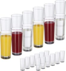 Relaxdays 24x longdrinkglazen - glazen set - 300 ml - waterglazen - drinkglazen