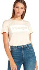 Oranje T-shirt Korte Mouw Wrangler W7016D