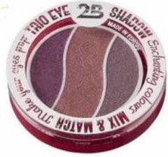 Bordeauxrode 2B-Trio eye shadow Enchanting colours 06 taupe/pink/burgundy