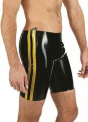 Gele MisterB Mister b rubber fucker shorts black yellow small