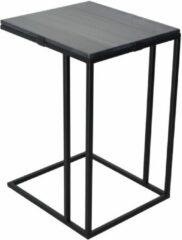LOFT42 Marble Laptoptafel - Metaal - Zwart Marmer - 55x35x40