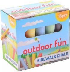 Johntoy Outdoor Fun Stoepkrijt - 15 Stuks In Doos