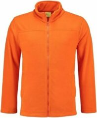 L&S Oranje fleece vest met rits voor volwassenen XL (42/54)