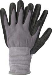 Merkloos / Sans marque Grijze/zwarte nylon werkhandschoenen met nitril coating - Werkhandschoenen - Klusartikelen - Tuinartikelen L