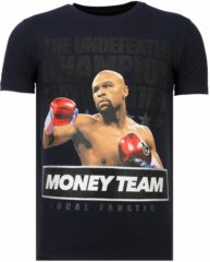 Blauwe Local Fanatic Money Team Champ - Rhinestone T-shirt - Navy - Maten: XL