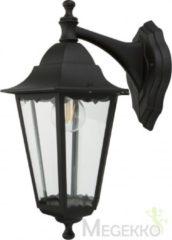 Smartwares Wandleuchte Classico Aluminium/Glas/schwarz 10.009.09 Buitenlamp (wand) E27 Zwart