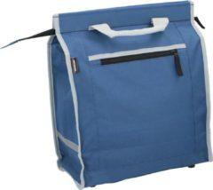 Blauwe Dunlop Fietstas - met extra Opbergruimte - Afneembaar als Boodschappentas