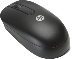 Zwarte HP computermuizen USB Optical Scroll Mouse