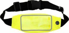 Discountershop Sport Heupband - Hardloopband - Sportband - Hardloop Riem Met Smartphone Houder - Large Geel