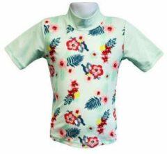 Groene Banz Short Sleeve Mint Floral Uv-werend Maat 92