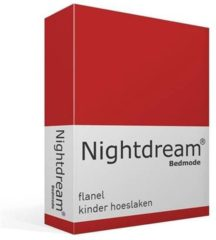 Moment By Moment Snoozing flanel kinder hoeslaken Rood Wiegje (40x80 cm) (90 rood)