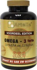 Artelle Omega 3 Forte 33% EPA 22% DHA Visolie - 220 capsules - Visolie - Voedingssupplement