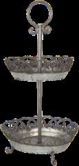 Etagère ø 37*72 cm Distressed grijs | 6Y3321 | Clayre & Eef