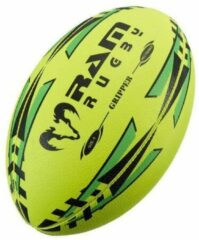 RAM Rugtby Gripper rugbybal bundel - Wedstrijd/training - Met draagtas - Maat 3 - Geel - 15 stuks
