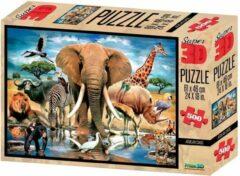 Prime3D Prime 3d Legpuzzel 3d Afrikaanse Oase 500 Stukjes