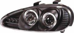Set koplampen passend voor Mazda MX-3 1992-1997 - Zwart - incl. Angel-Eyes