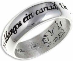 St Justin Ltd Welsh Liefde zilveren Ring Maat 58