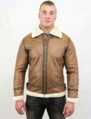 Tony Backer Lammy Coat - Shearling jacket - Bruin Jas / Heren Winterjas Heren Jas Maat XL