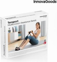 Zwarte Multifunction Resistance Elastic Bands with Exercise Guide Tensport InnovaGoods