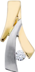 Goudkleurige Glow Gouden Hanger - Mat Glanzend Diamant 0.04ct. Gh/si3 220.5251.00