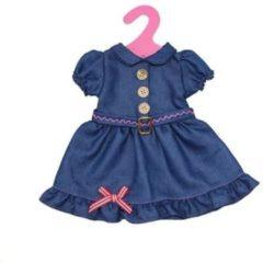 Gerardo's Toys Babypoppenjurk Denim 46 Cm Donkerblauw