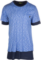 Blue Versace Jeans T-shirt maglia maniche corte girocollo uomo jersey regular flame funaki
