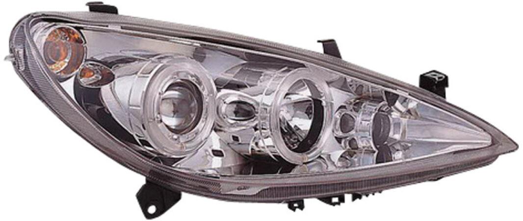 Afbeelding van AutoStyle Set Koplampen passend voor Peugeot 307 2001-2005 - Chroom - incl. Angel-Eyes & Mistlamp & Motor