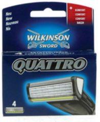 Wilkinson Sword Quattro - 4 stuks - Scheermesjes