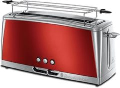 Rode Russell Hobbs 23250-56 Luna Solar Red Long Slot - Broodrooster - Rood