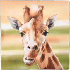 Esschert Design Servetten Giraffe 33 Cm Papier Bruin 3-laags