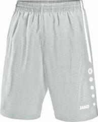 Jako - Shorts Turin - zilvergrijs/wit - Maat 128