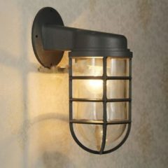 Groenovatie Industriële Kooi Wandlamp Voor Buiten E27 Fitting - 320x140x120 mm - Zwart