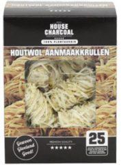 House of Charcoal 10 doosjes Houtwol aanmaakkrullen