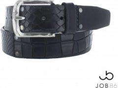 JOB86 Leren heren jeans riem-Patchwork-Zwart-Maat 95