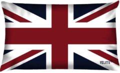 Donkerblauwe Velits outdoor Buitenkussen vlag Engeland