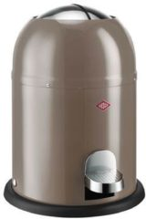 Grijze Wesco Single Master Afvalemmer, warm grey - 9 Liter