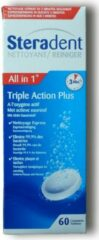 Steradent Triple Action Plus - Kunstgebit Reiniger - 60 Tabletten