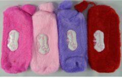 Massamarkt Etui pluche 20x7 cm<br /> Kleuren: hard roze,zacht roze, paars, rood