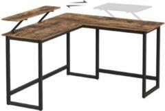Bruine Maison Woonstore Maison's Bureau – Hoekbureau – L-vormig bureau – Laptop standaard – Industrieel – 140x130x76