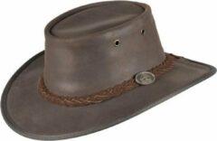 Bruine Scippis Lederen hoed Durras maat S
