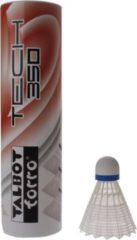 Talbot Torro Badminton Shuttles Tech 350 Wit/blauw 6 Stuks