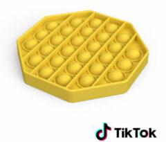 Merkloos / Sans marque Pop it Fidget Toy- Bekend van TikTok - Hexagon - Geel