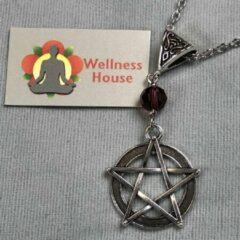 Zilveren Wellness-House | Ketting Wicca Purple | Zen Sieraden | Wicca | Sjamanisme | Zen Cadeau | Uniek