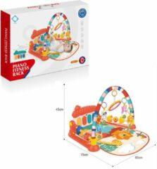 FDBW Interactief Speelkleed – Rood – 75 x 60 x 45 cm | Baby Speelkleed – 0 jaar | Baby Speelmat Gym – Jungle | Speelkleed Met Boog